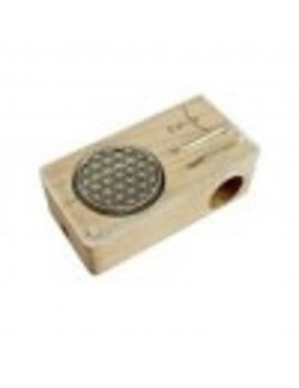 Magic Flight Launch Box Vaporizer - Flower Of Life Laser Kit (Maple Wood)
