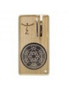 Magic Flight Launch Box Vaporizer - Metatrons Cube Laser Kit (Maple Wood)