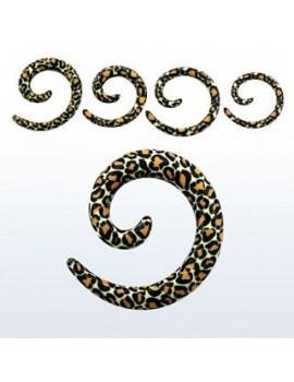Snake Skin Acrylic Spiral Coil Taper