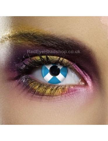 Scotland Flag Contact Lenses