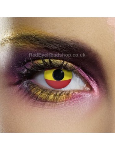 Spain Flag Contact Lenses