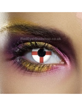 St George Flag Contact Lenses