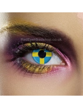 Sweden Flag Contact Lenses