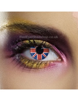 Union Jack Flag Contact Lenses