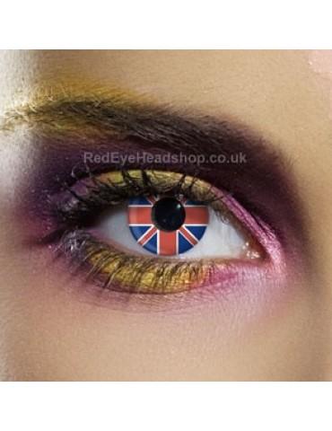 Union Jack Flag Contact Lenses