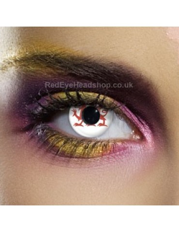 Wales Flag Contact Lenses