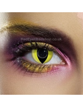 Yellow Cat Eye Contact Lenses