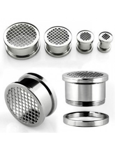 Stainless Steel Gridded Screwfit Tunnel