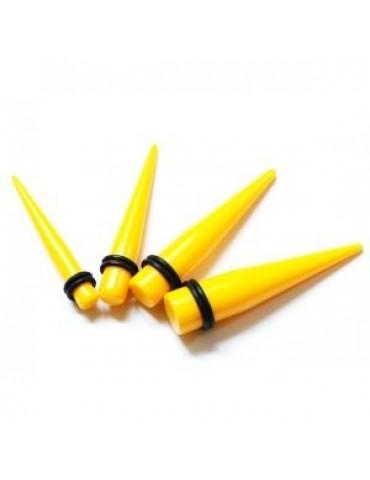 Yellow UV Acrylic Taper