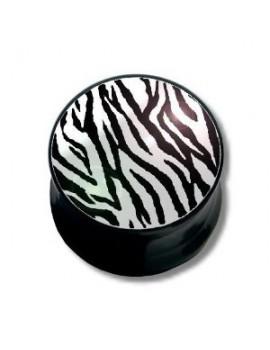 Zebra Stripe Logo Acrylic Plug
