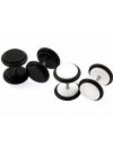 Black and White Illusion Plugs