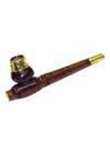 Brass & Mango Wood Pipe