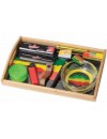 Rasta Splash Rolling Tray Set