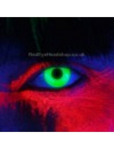i-Glow Green UV Contact Lenses
