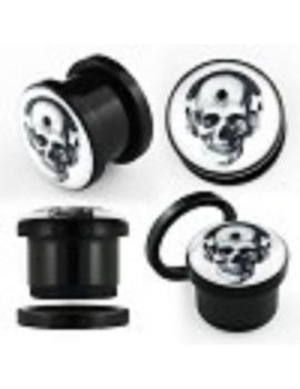 Hip Hop Skull Acrylic Screw-fit Plug