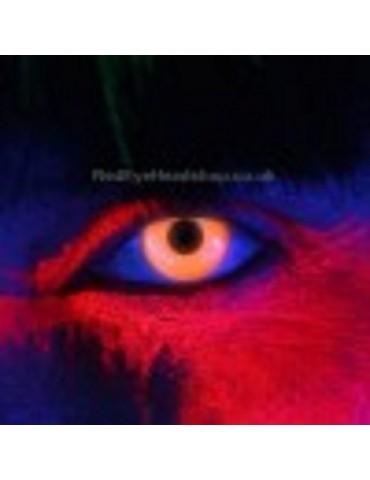 i-Glow Orange UV Contact Lenses