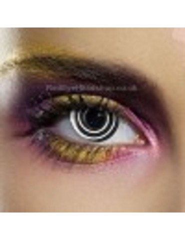 Black Spiral Contact Lenses